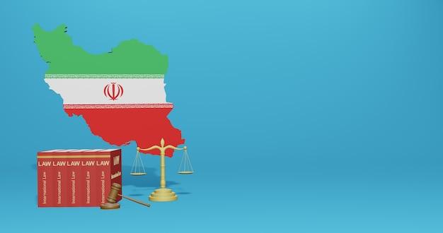 Закон ирана для инфографики и контента социальных сетей в 3d-рендеринге