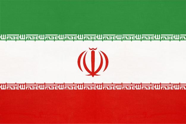 Iran national fabric flag