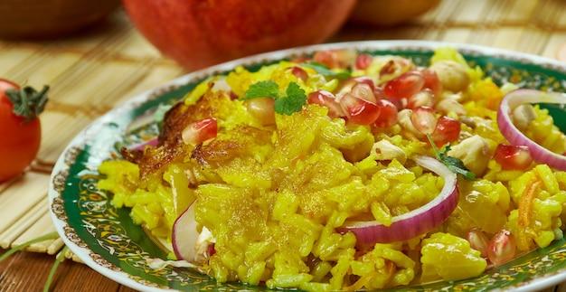 이란 요리 - javaher polow, 페르시아 보석 쌀