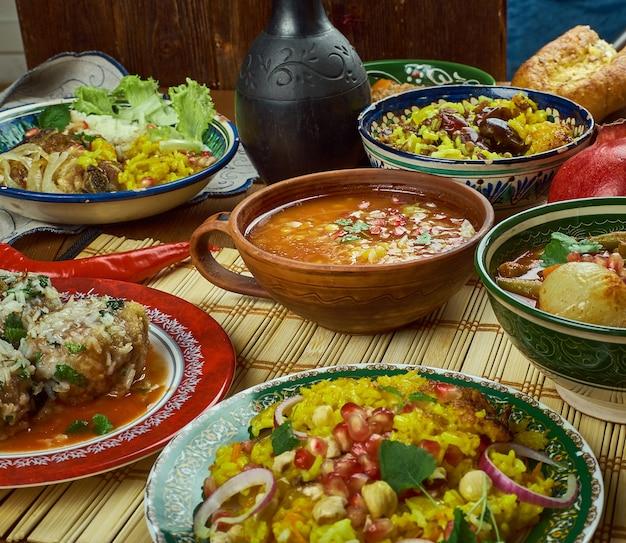 이란 요리 - 페르시아 전통 요리, 평면도.