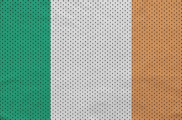 Ireland flag printed on a polyester nylon sportswear mesh fabric