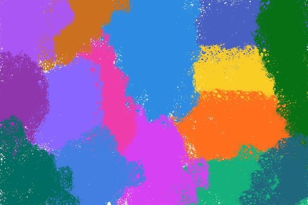 무지개 빛깔의 질감 그라데이션 배경 파스텔 선염 스타일과 같은 색상 수채화 물감