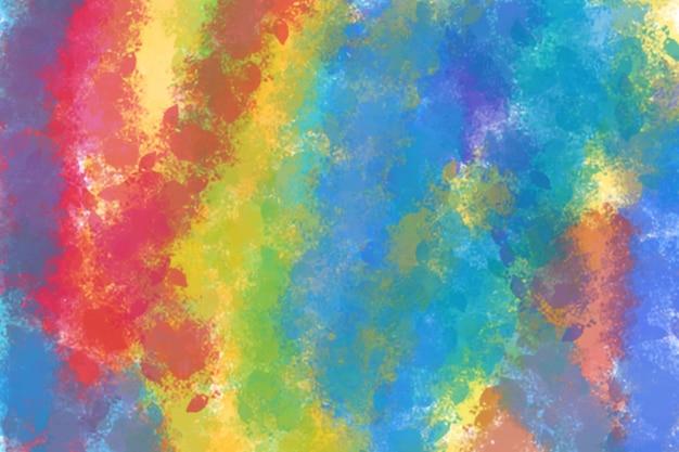 무지개 빛이 있는 무지개 빛깔의 질감 다채로운 홀로그램 용지neon 홀로그램 테마