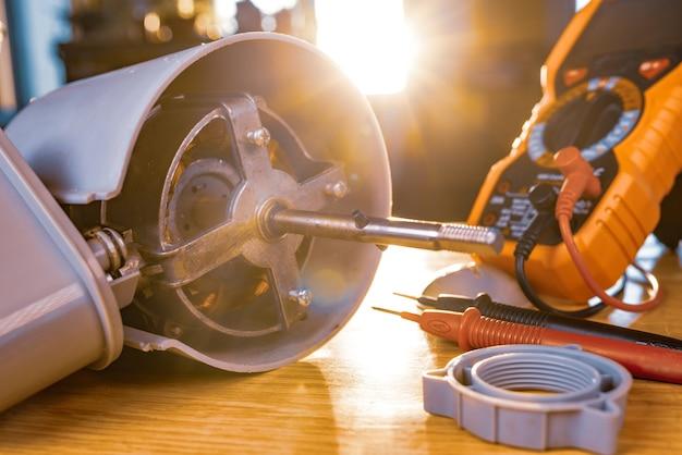 鉄扇モーターとテストツール