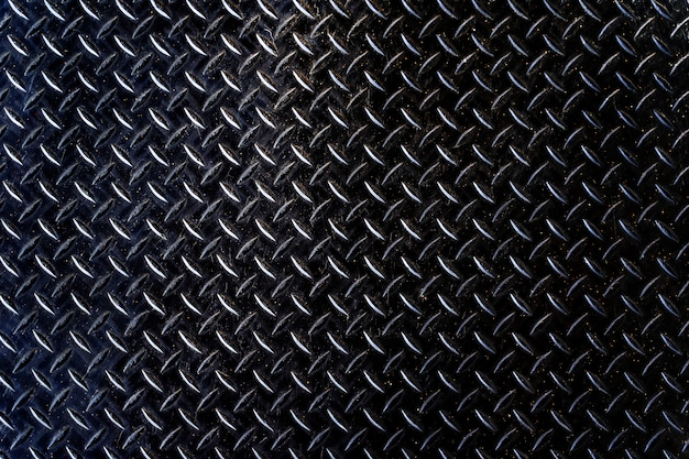 Iron plate black texture background old weathered metal diamond plate