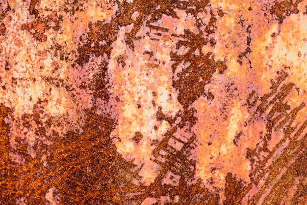 Iron wall with rust. grunge texture. background for the designer. corrosion of metal