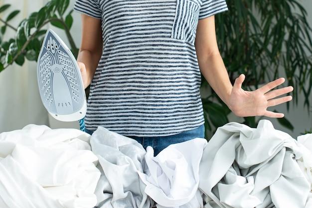 服のアイロンがけ。宿題。家を維持する責任。スチームスチーマー。