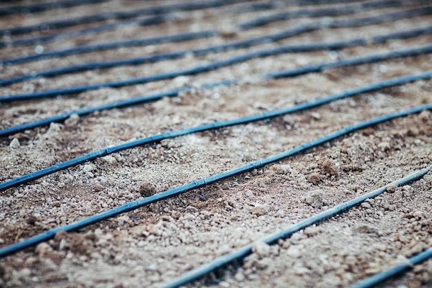 プロット上の灌漑システム