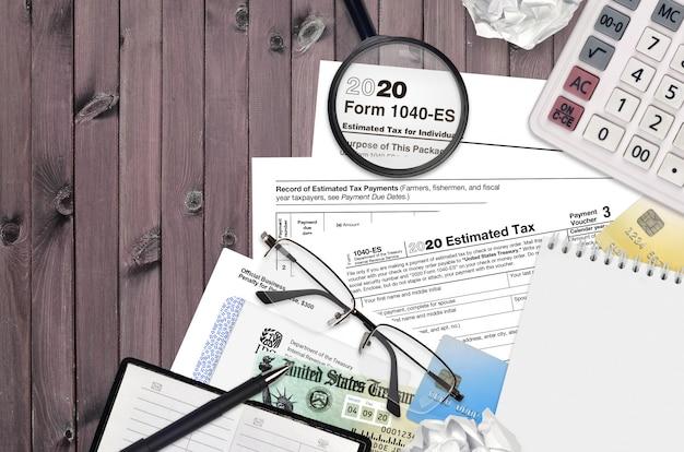 Irs форма 1040-е расчетный налог для физических лиц