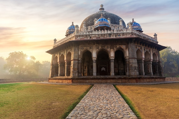 Isa khan's tomb, sight of india located in hymayun's tomb in new delhi.