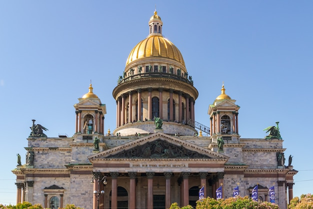 Isaac's cathedral on a summer sunny day. st. petersburg, russia - june 2, 2021
