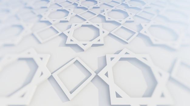 3dイラストのイスラム装飾とペルシャの装飾 Premium写真