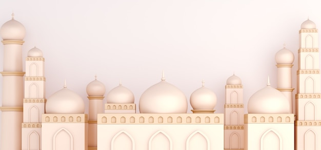 Islamic decoration background with mosque