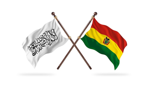 Islamic emirate of afghanistan versus bolivia two flags background