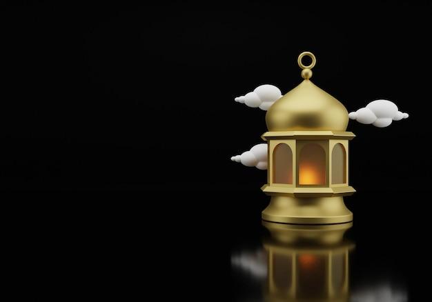 Исламский фонарь 3d-рендеринга