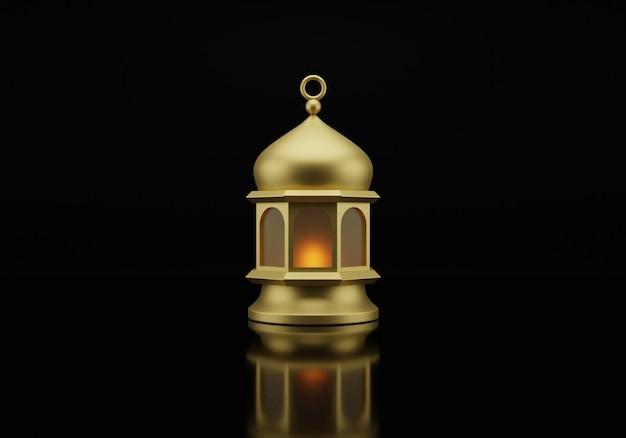 イスラムのランタンの3dレンダリング