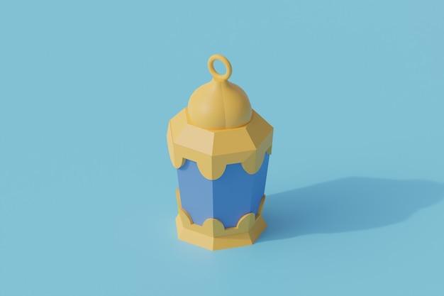 Исламский фонарь одиночный изолированный объект. 3d рендеринг