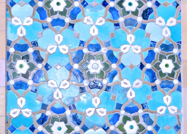 Islamic mosque ornamental tiles