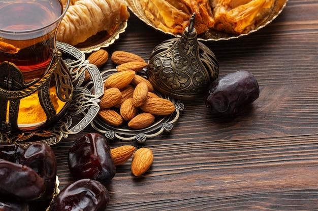 Islamic new year tea and food