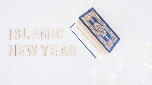 Islamic new year words and blue book