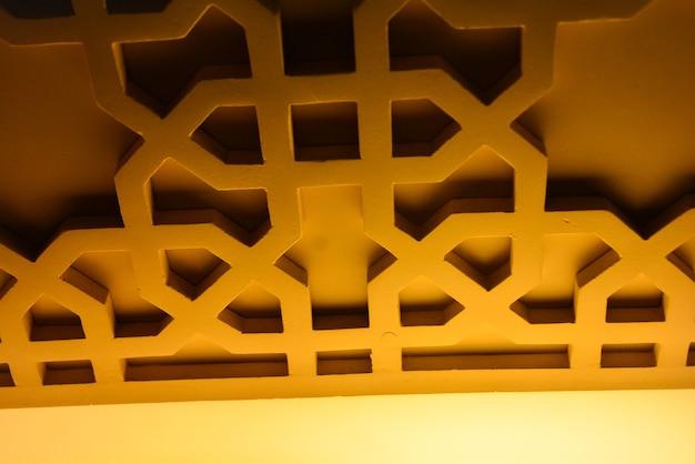 Исламские орнаменты в интерьере мечети
