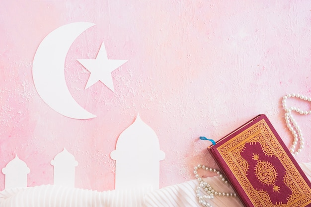 Islamic symbols and book