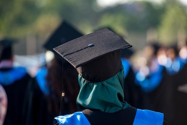Islamic woman with graduate cap