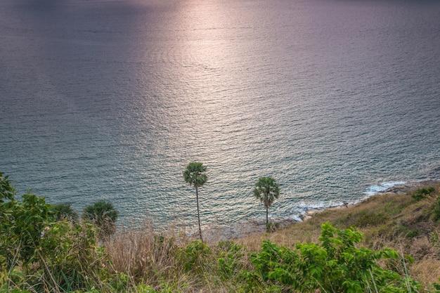Island bay view at windmill viewpoint.  phuket ,phuket province thailand