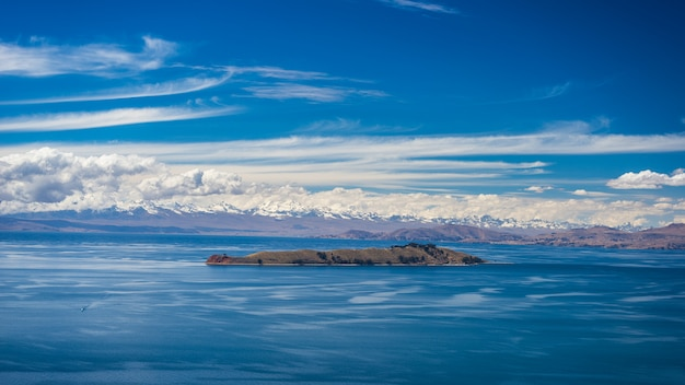 Island of the moon, titicaca lake, bolivia