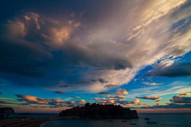 Остров святого стефана панорамный снимок