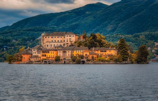 Island of orta san giulio