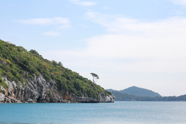 Island and sea landscapes of ko sichang in chonburi province.