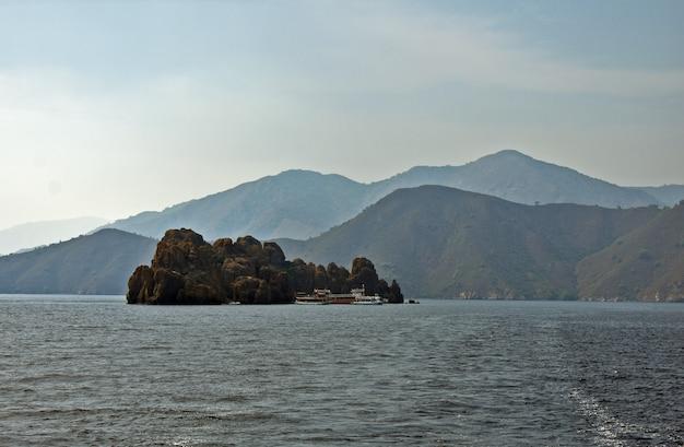 Island of stones in the aegean sea