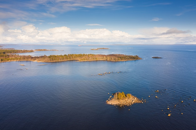 Islands in the baltic sea. top view.