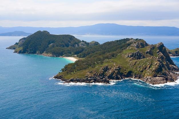 Islas cies islands san martino island in vigo galicia