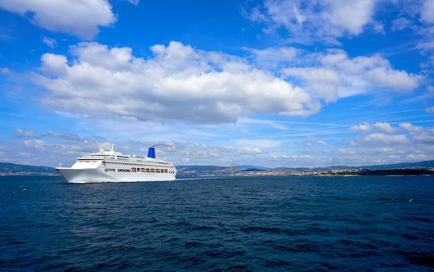 Islas cies islands view from the sea of vigo spain