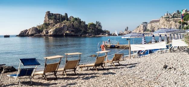 Isola bella (beautiful island) is a small island near taormina
