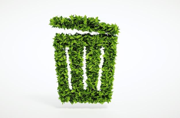 Изолированные 3d визуализации экология мусор концепции с белым фоном