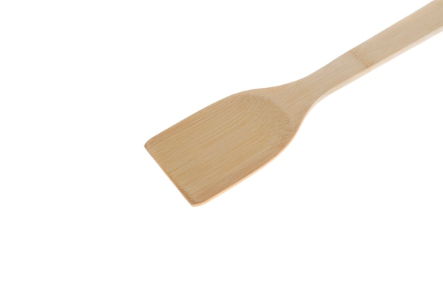 A isolated bamboo stick spoon, traditional asian cuisine