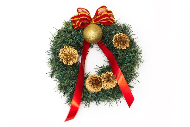 Isolated beautiful christmas ornaments