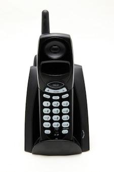 Isolated black vordless phone on white