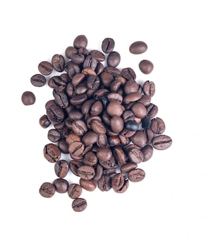 Isolated cofee beans