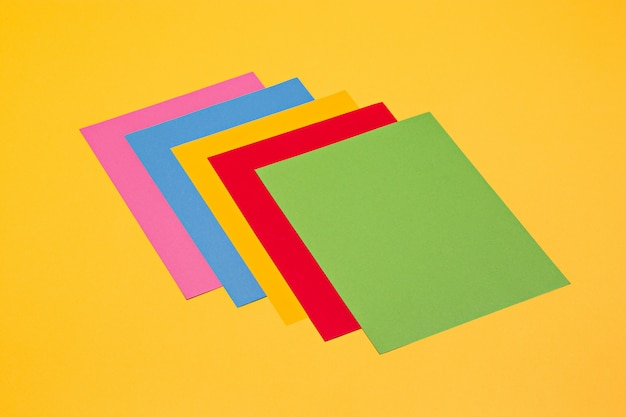 Isolated of colorful paper in rainbow color