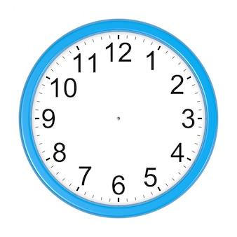Изолированные настраиваемые синие часы