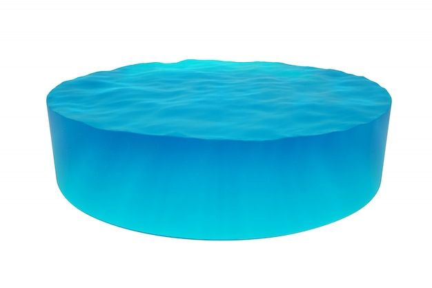 Isolated cylinder of water