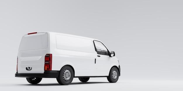 Изолированные фургон 3d иллюстрация