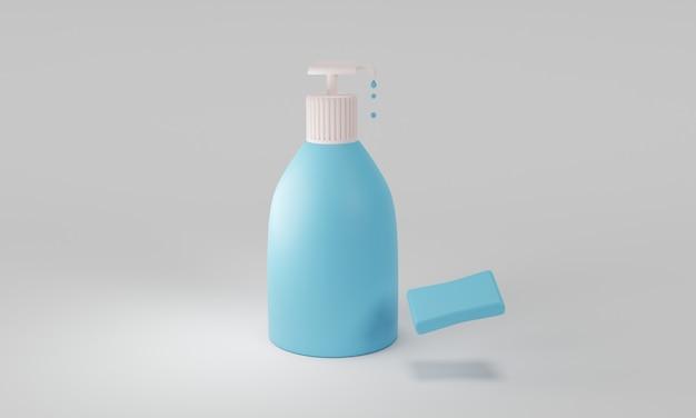 Изолированный дизайн 3d мыло для рук иллюстрации макет