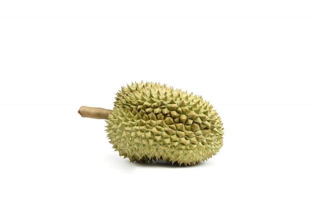 Изолированный плодоовощ дуриана на белой предпосылке, король плодоовощ в юговосточном азиатском таиланде