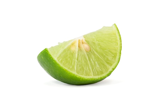 Isolated of fresh green lemon or lime  fruit
