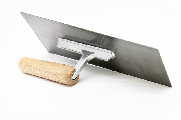 Isolated of german style lute trowel over white background
